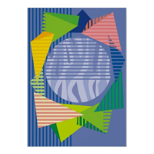 Colorful Geometric Abstract Art Posters and Prints