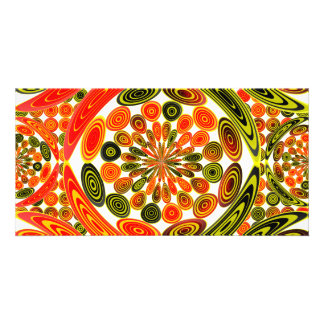 Colorful geometric abstract card
