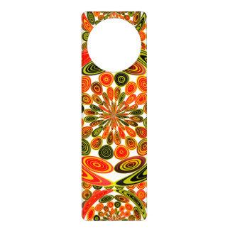 Colorful geometric abstract door hanger