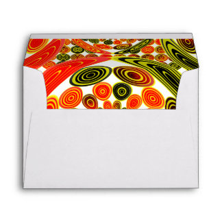 Colorful geometric abstract envelope