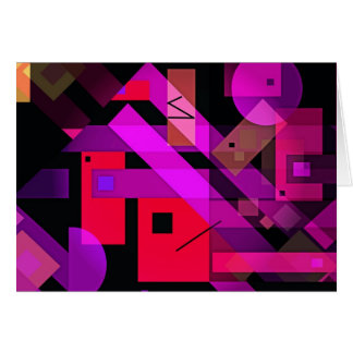 Colorful Geometric Abstract for Gifts & Home! Card