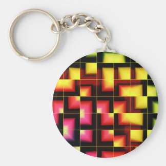 Colorful geometric abstract keychain