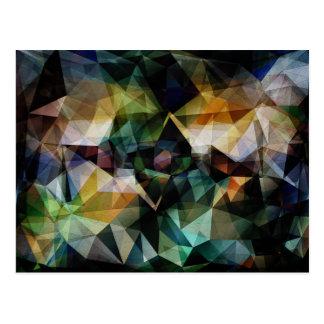 Colorful Geometric Abstract Postcard