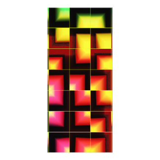 Colorful geometric abstract rack card