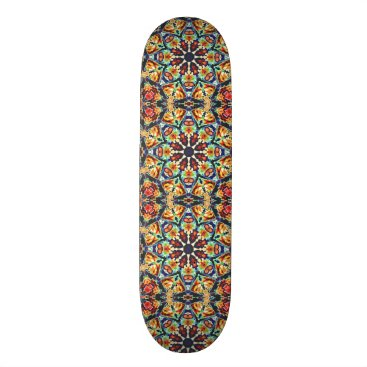 Colorful Geometric Abstract Skateboard