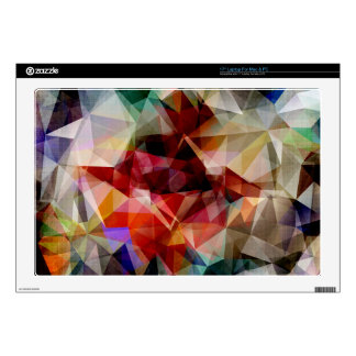 "Colorful Geometric Abstract Skins For 17"" Laptops"