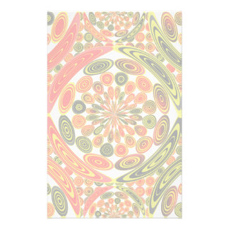 Colorful geometric abstract stationery