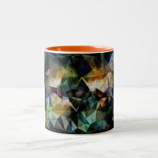 Colorful Geometric Abstract Two-Tone Coffee Mug