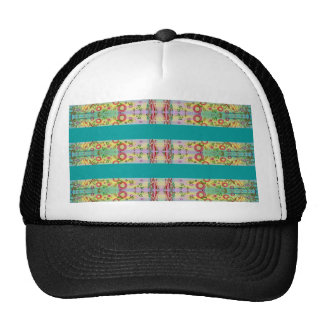 Colorful Geometric Abstract Watercolo Trucker Hat
