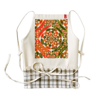 Colorful geometric abstract zazzle HEART apron