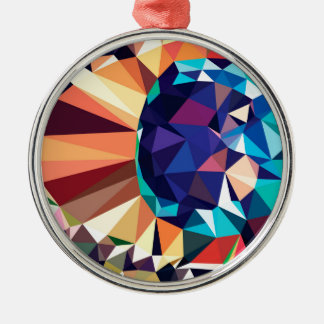 Colorful Geometric Abstraction 2 Metal Ornament