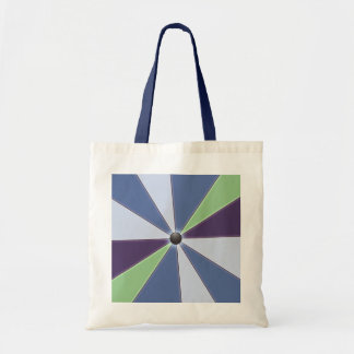 Colorful Geometric Beams Blue Tote Bag