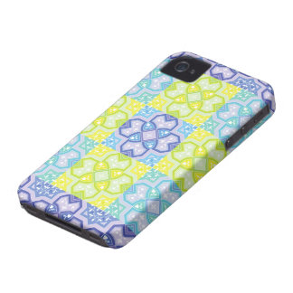 Colorful Geometric ~ Blue & Yellow iPhone 4 Case-Mate Cases