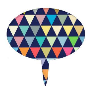 Colorful geometric cake topper