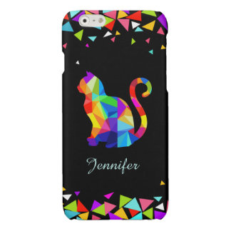 Colorful Geometric Cat Savvy iPhone 6 Case