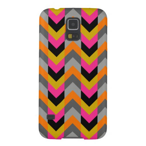 Colorful Geometric Chevron Pattern Galaxy S5 Cover