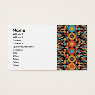 Colorful geometric composition business card