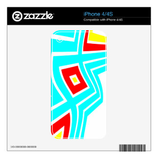 Colorful Geometric Decoration Skin For iPhone 4S