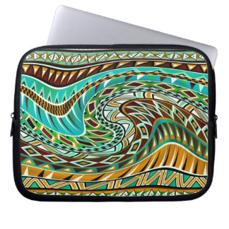 Colorful Geometric Design Computer Sleeve