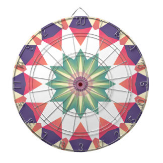 Colorful Geometric Design Dart Boards