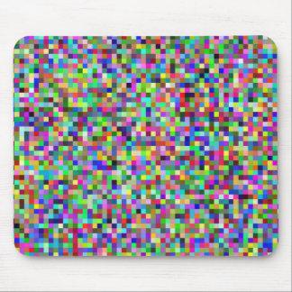colorful geometric design mouse pad