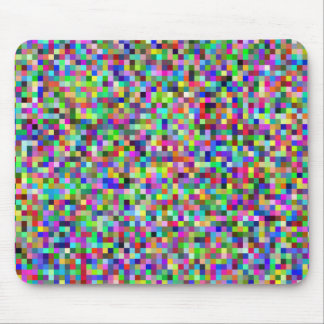 colorful geometric design mouse pad