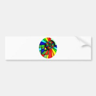 Colorful Geometric Designs Bumper Sticker