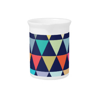 Colorful geometric drink pitcher