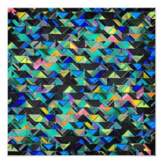Colorful Geometric Explosion Art Photo