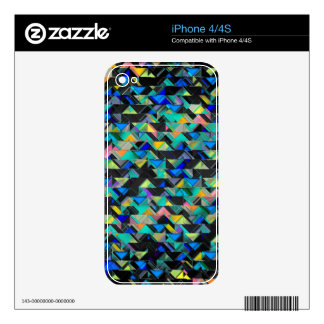 Colorful Geometric Explosion Decal For The iPhone 4S