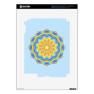 Colorful Geometric Flower Medallion  iPad 3 Skin