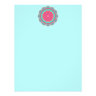 Colorful Geometric Flower Medallion Letterhead