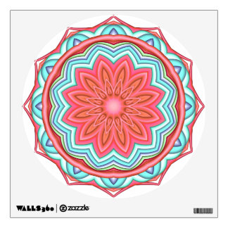 Colorful Geometric Flower Medallion Wall Decal