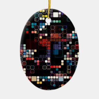 Colorful Geometric Graphic Ceramic Ornament