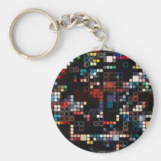 Colorful Geometric Graphic Key Chains