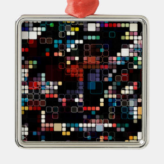 Colorful Geometric Graphic Metal Ornament