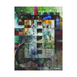 Colorful Geometric Industrial Grunge Art 7 Canvas Print