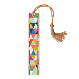 Colorful Geometric Kaleidoscope Bookmark Walnut Bookmark