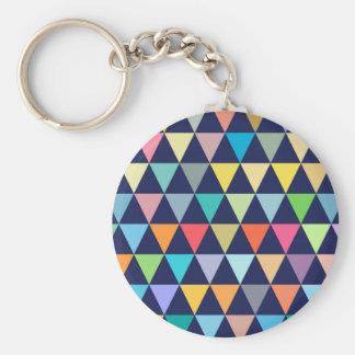 Colorful geometric keychain