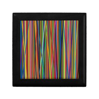 Colorful Geometric Lines Jewelry Box