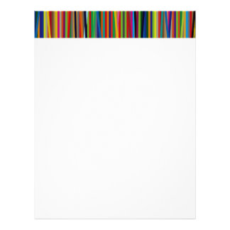 Colorful Geometric Lines Letterhead