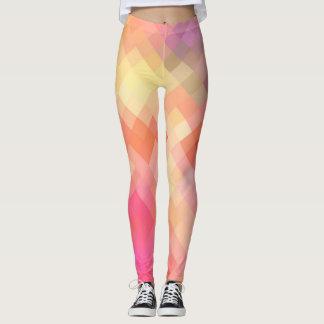Colorful Geometric Modern Diamond Pattern #12 Leggings