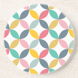 Colorful Geometric  Modern Pattern Beverage Coasters