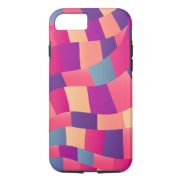 Colorful Geometric Mosaic Pattern iPhone Case