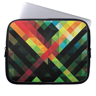 Colorful Geometric Mosaic Pattern Laptop Sleeve