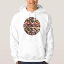 Colorful Geometric Motif Hoodie