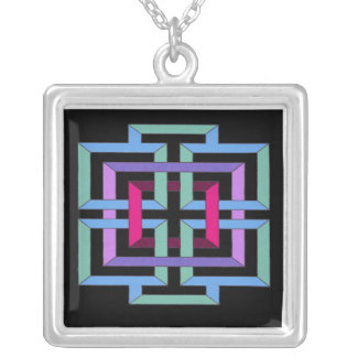 Colorful Geometric Necklace