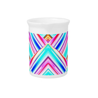 Colorful Geometric Panels Drink Pitchers