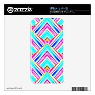 Colorful Geometric Panels Skin For iPhone 4S