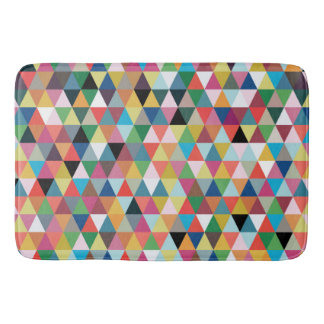 Colorful Geometric Pattern Bath Mat Bath Mats